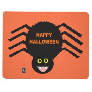 Halloween Black Spider Lined Journal
