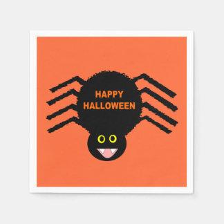 Halloween Black Spider Napkins Disposable Serviettes