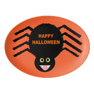 Halloween Black Spider Platter