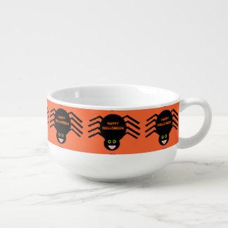 Halloween Black Spider Soup Mug