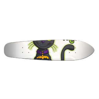 Halloween Black Witch Cat Trick or Treat Skate Board