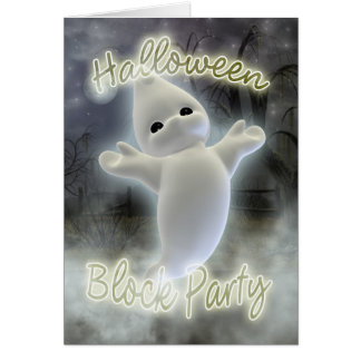Halloween Block party invitation Greeting Card