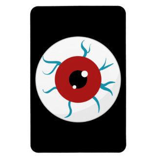 Halloween Bloodshot Eyeball Rectangle Magnet