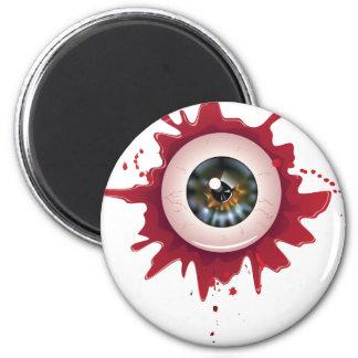 Halloween Bloody Eyeball3 6 Cm Round Magnet