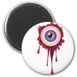Halloween Bloody Eyeball 6 Cm Round Magnet