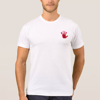 Halloween Bloody Left Hand Imprint T-Shirt