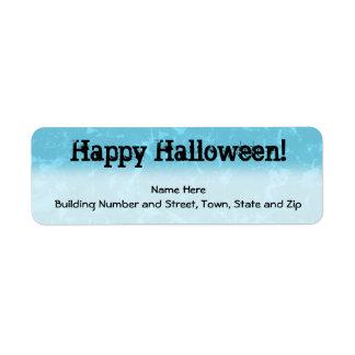 Halloween Blue Abstract Return Address Label