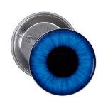 Halloween Blue Eye Close Up 6 Cm Round Badge