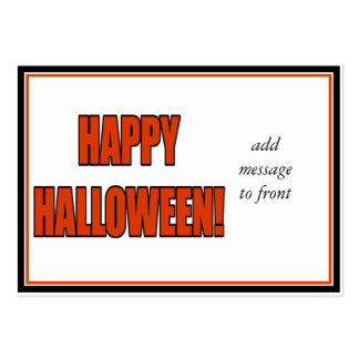 Halloween Bold Orange & Black Text Pack Of Chubby Business Cards
