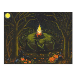 Halloween,bonfire,witches,coven,magic,dance Postcard