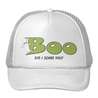 Halloween Boo Did I Scare You? (Green) Hat
