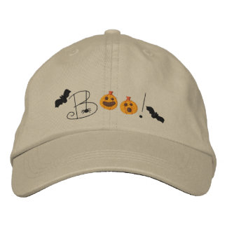 Halloween Boo Embroidered Hats