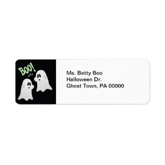 Halloween Boo! Ghosts Return Address Labels