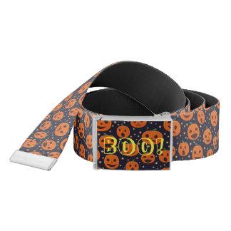 Halloween BOO! Pumpkin Pattern Jack O Lantern Belt