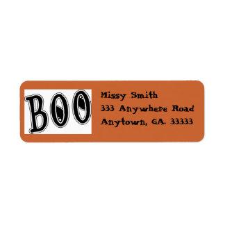 Halloween ( BOO ) return address labels