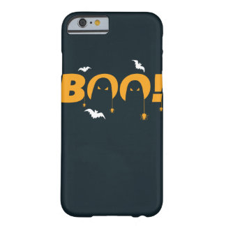 """Halloween """"boo"""" with bats spiders barely there iPhone 6 case"""