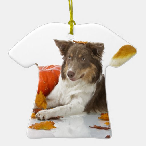 halloween border collie christmas tree ornaments