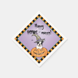 Halloween Boston Terrier Paper Serviettes