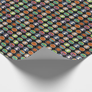 Halloween Bottle Caps Wrapping Paper