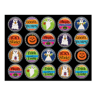 Halloween Bottlecaps Postcard