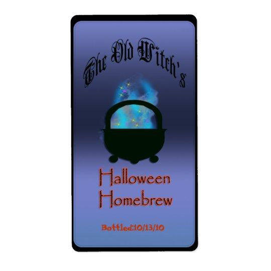 halloween brew shipping label