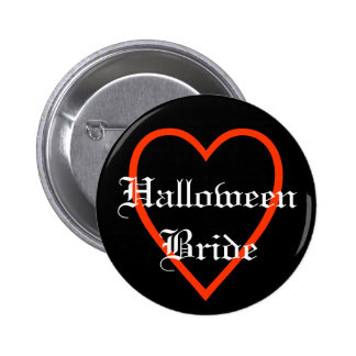 Halloween Bride with heart Button