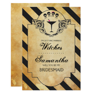 Halloween Bridesmaid Proposal Invite ~ Funny