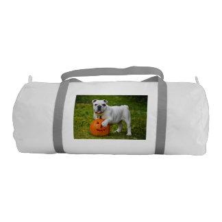 Halloween bulldog gym duffel bag