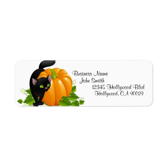 Halloween Business Address Label