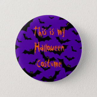 Halloween Button - Bats Costume