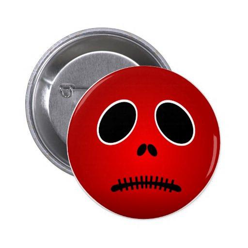Halloween Button Sad Scary Face