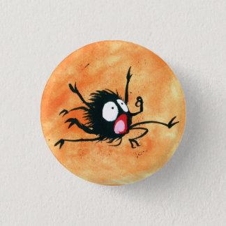 Halloween Button! Spooked Little Spider! 3 Cm Round Badge