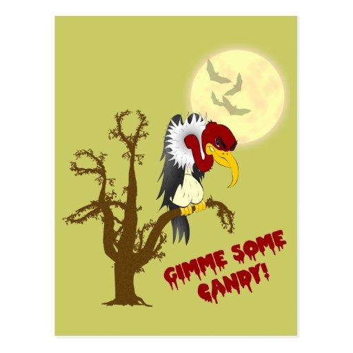 Halloween Buzzard Recipe Card Post Cards