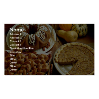 Halloween cake and pie business card templates
