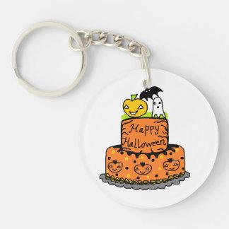 Halloween Cake Single-Sided Round Acrylic Key Ring