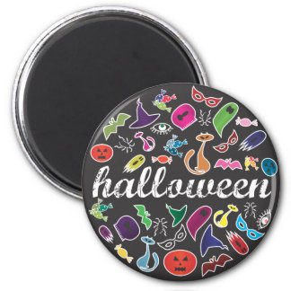 Halloween Candy, Cats & Ghost  Magnet