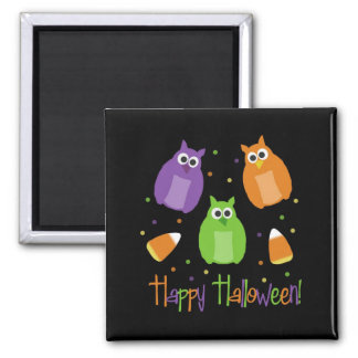 Halloween Candy Corn Owls Magnet