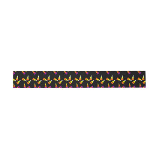 Halloween Candy Corn Pattern Invitation Bands Invitation Belly Band