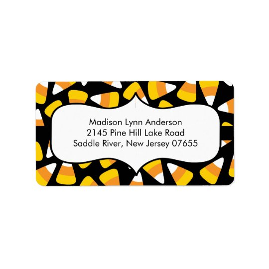 Halloween Candy Corn  Return Address Labels. Label