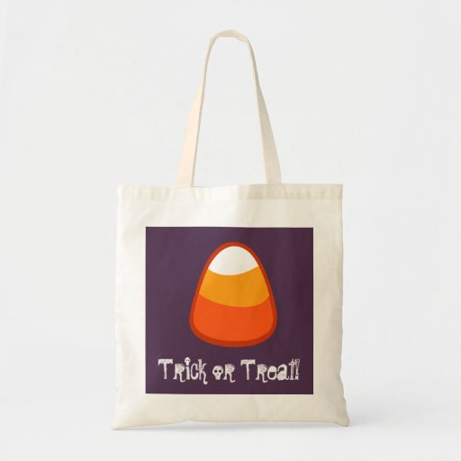 Halloween Candy Corn Trick or Treat Gift Purple Bags
