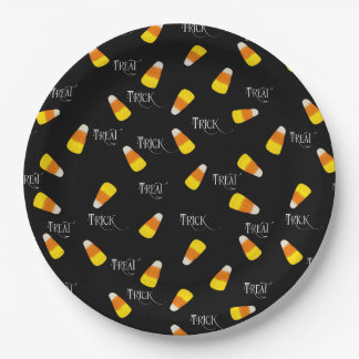 Halloween Candy Corn, trick or treat Paper Plate