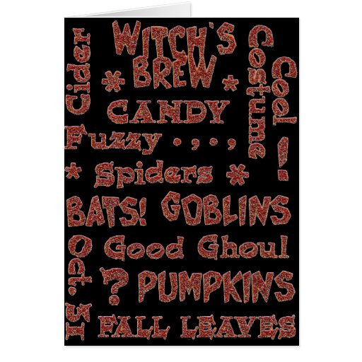 Halloween Candy Costume Oct 31 Orange and Black Greeting Cards