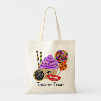 Halloween Candy Trick Or Treat Lollipop Candy Corn Budget Tote Bag