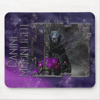 Halloween - Canine Moonlight - Black Labrador Mouse Pad