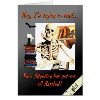 Halloween Card for Girlfriend, Skeleton Humor