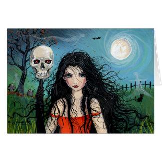 Halloween Card Samhain Witch