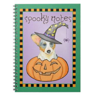 Halloween Cardigan Welsh Corgi Notebook