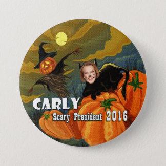 Halloween Carly Fiorina Black Cat 7.5 Cm Round Badge