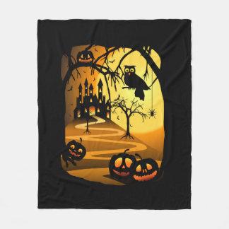 Halloween Castle Fleece Blanket