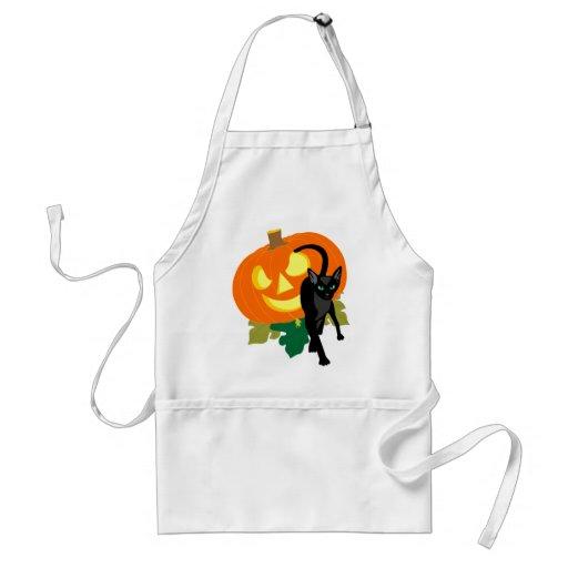 Halloween Cat and Pumpkin Apron